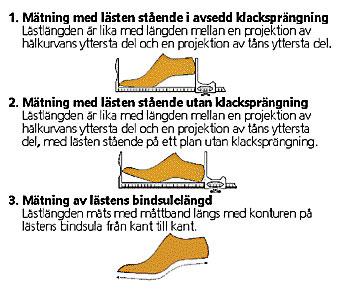 mäta fot skostorlek